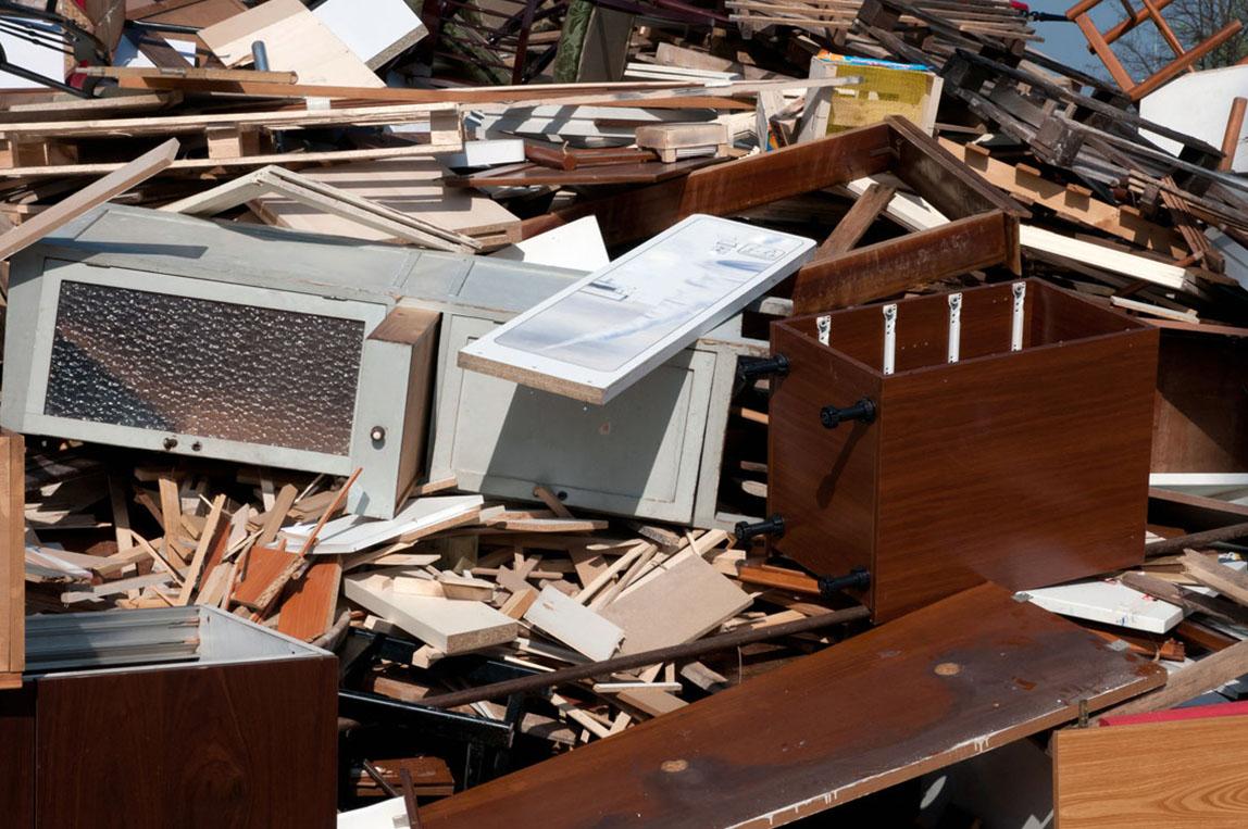 legno da riciclare